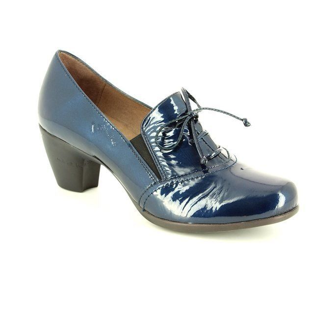 Wonders Heeled Shoes - Navy patent - G3612/70 WIND 62