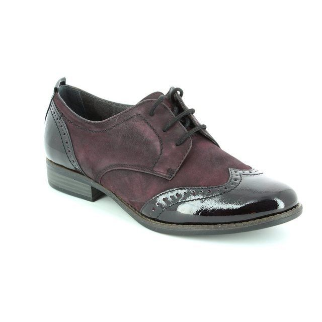Tamaris 23202-549 Aubergine lacing shoes