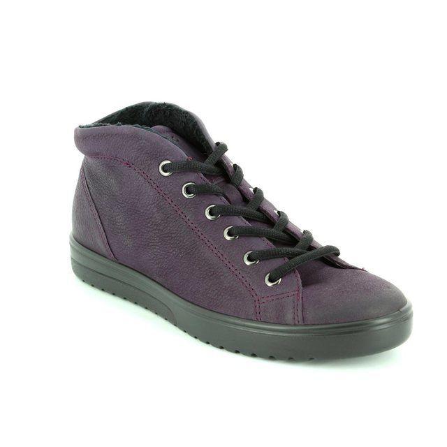 ECCO Fara Hi 235343-02276 Aubergine ankle boots