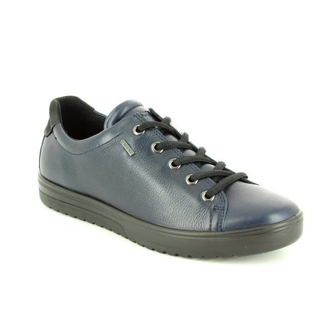 ECCO Fara Gore 235333-01038 Navy lacing shoes