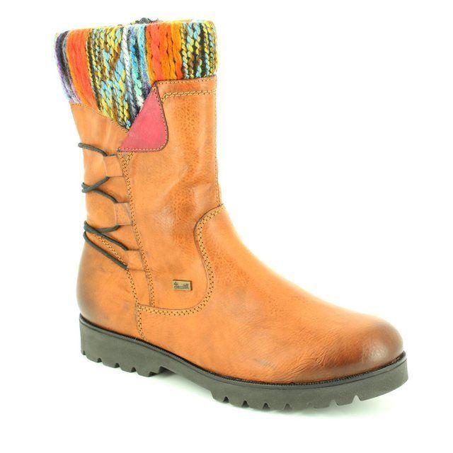 Rieker K0177-24 Tan multi boots