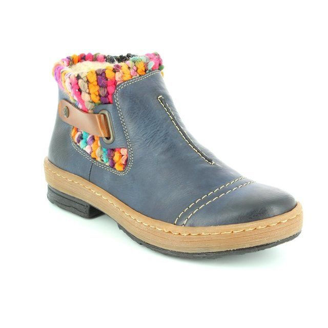 Rieker Z6784-14 Navy ankle boots