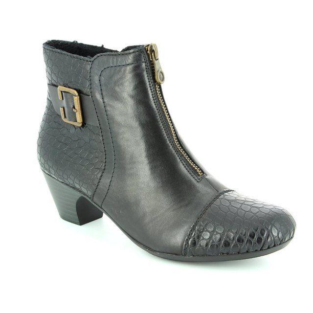 Rieker 70581-00 Black ankle boots