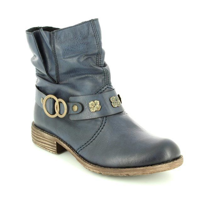 Rieker 74798-14 Navy ankle boots