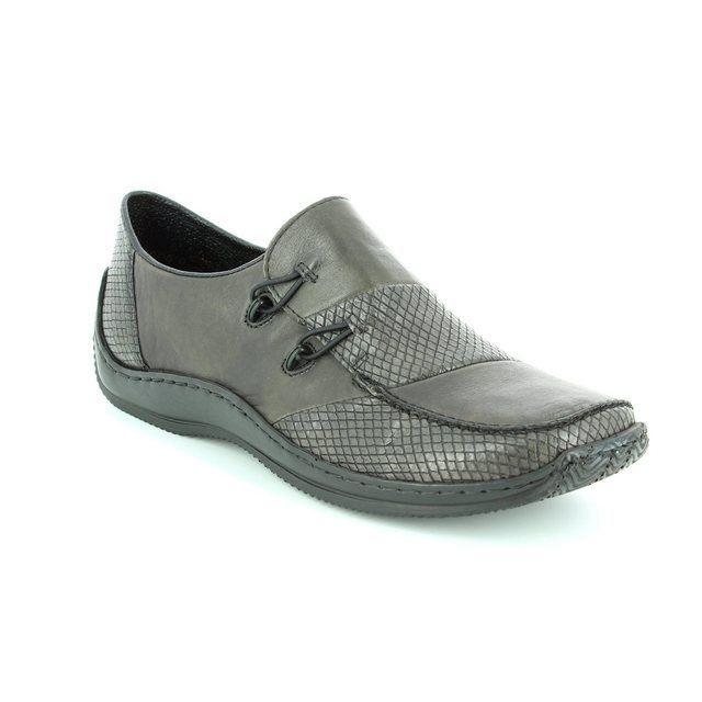Rieker L1762-46 Dark grey multi lacing shoes