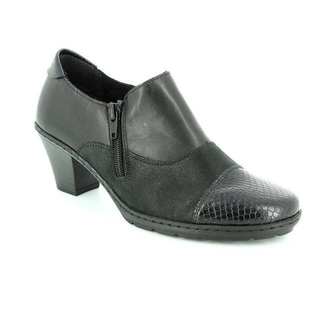 Rieker Heeled Shoes - Black - 57173-00 ADDICAP