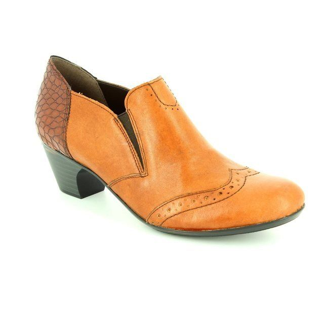 Rieker Heeled Shoes - Tan multi - 50563-24 SARALBRO