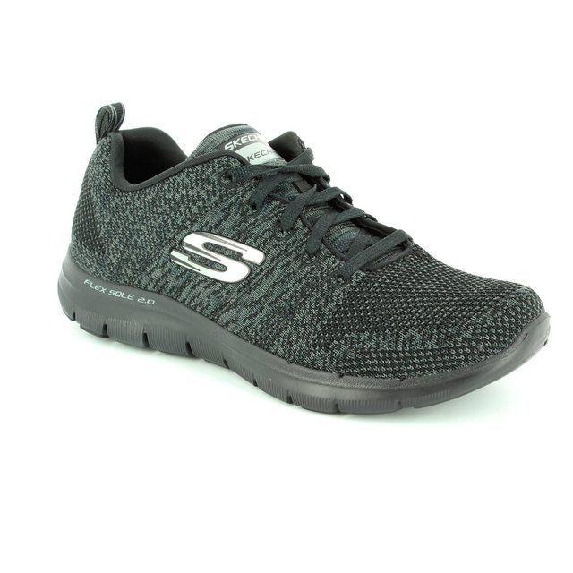 Skechers Flex Appeal 2 12756 BKCC Black-Grey trainers