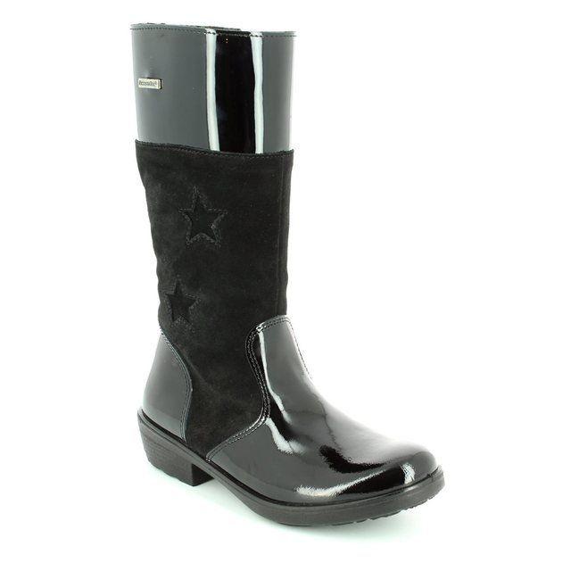 Ricosta Girls Boots - Black patent - 77240/092 HANNAH TEX