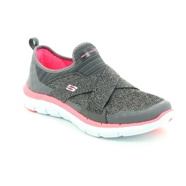 Skechers Trainers & Canvas - Charcoal - 12752/668 NEW IMAGE