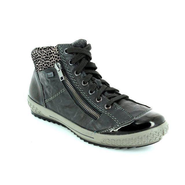 Rieker Boots - Short - Black - M6143-01 TINOTED TEX