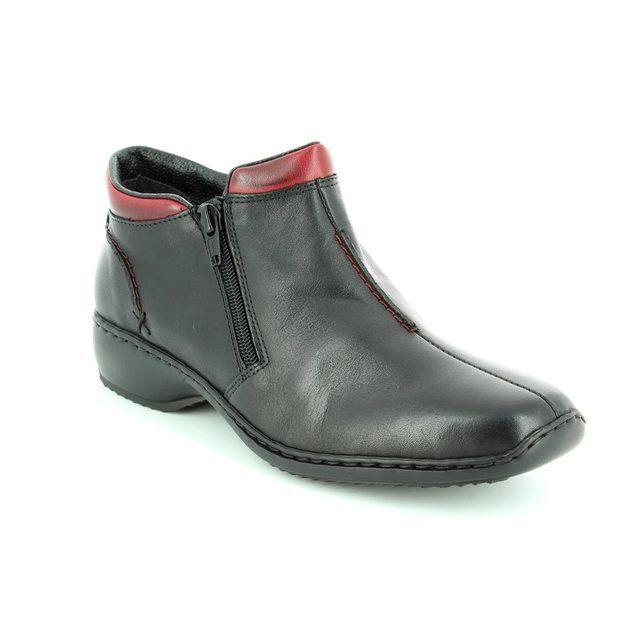 Rieker L3882-00 Black ankle boots