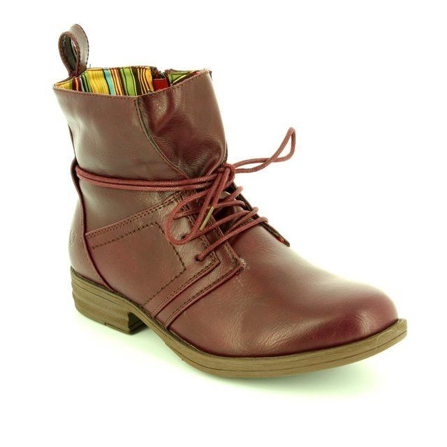 Heavenly Feet Strut 6006-90 Plum ankle boots
