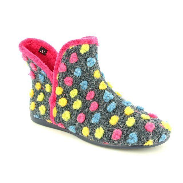 Heavenly Feet Indie 6011-70 Navy slippers