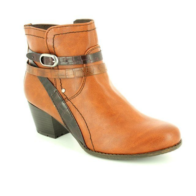 Jana Bastra 25369-328 Tan multi ankle boots