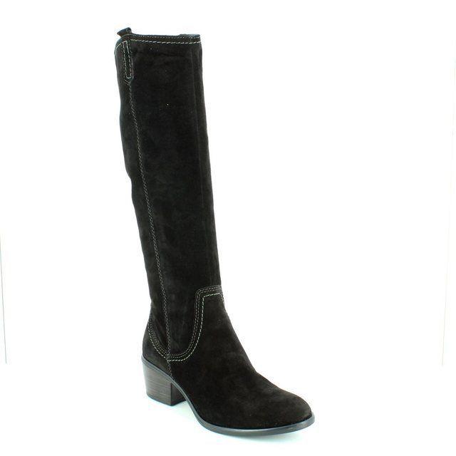 Tamaris 25537-001 Black suede long boots