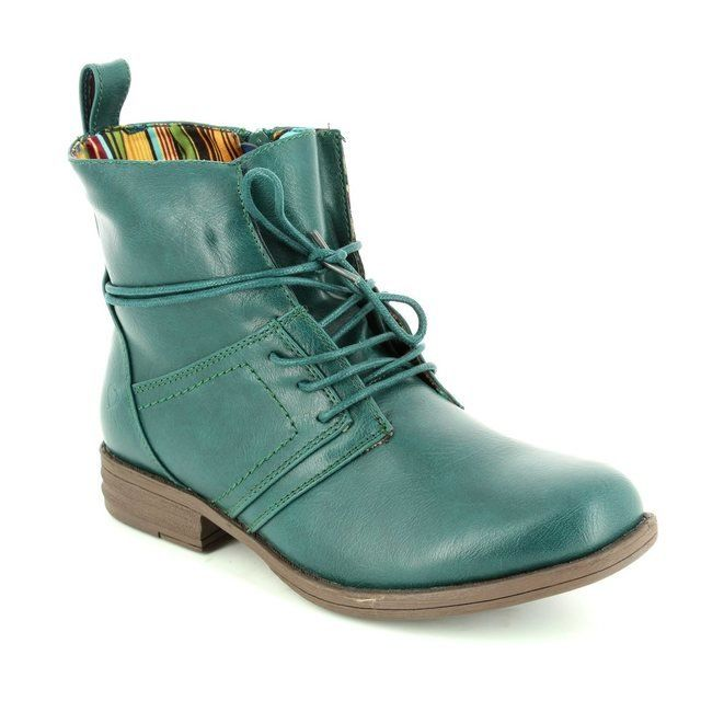Heavenly Feet Strut 6006-70 Teal blue ankle boots