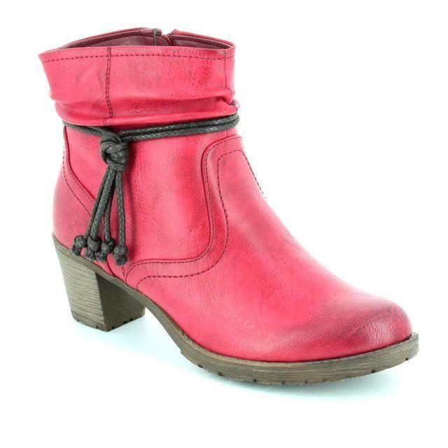 Antonio Dolfi Peeky 225100-30 Red ankle boots
