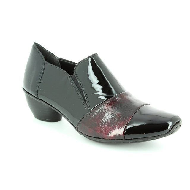 Rieker Heeled Shoes - Black wine - 43765-00 MIRMAP