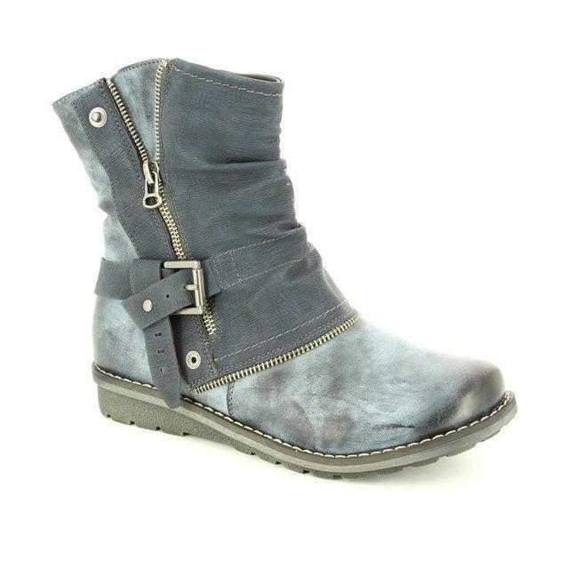 Rieker Girls Boots - Denim blue - K0280-14 FLYX
