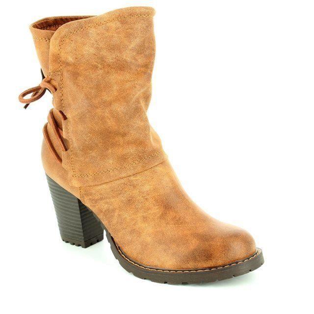 Tamaris Canesalace 25359-311 Tan ankle boots