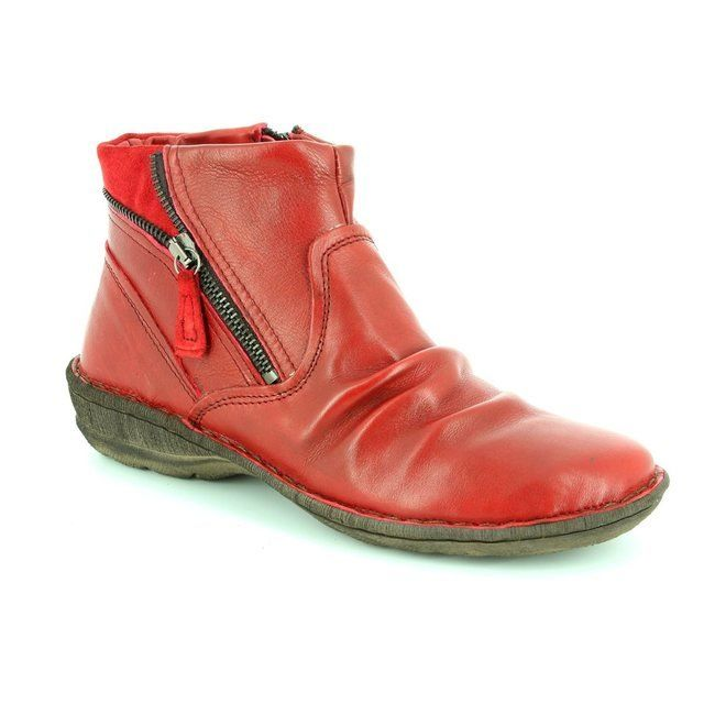 Relaxshoe Suffle 62 272010-80 Dark Red ankle boots