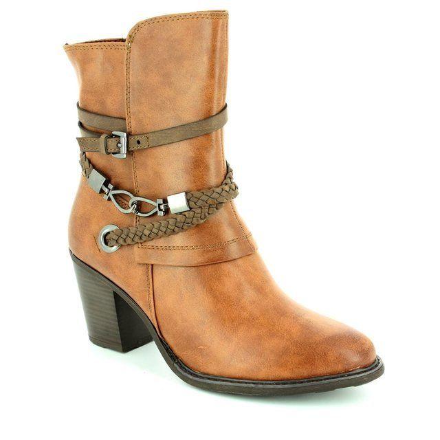 Marco Tozzi Denver 62 25344-372 Cognac tan ankle boots
