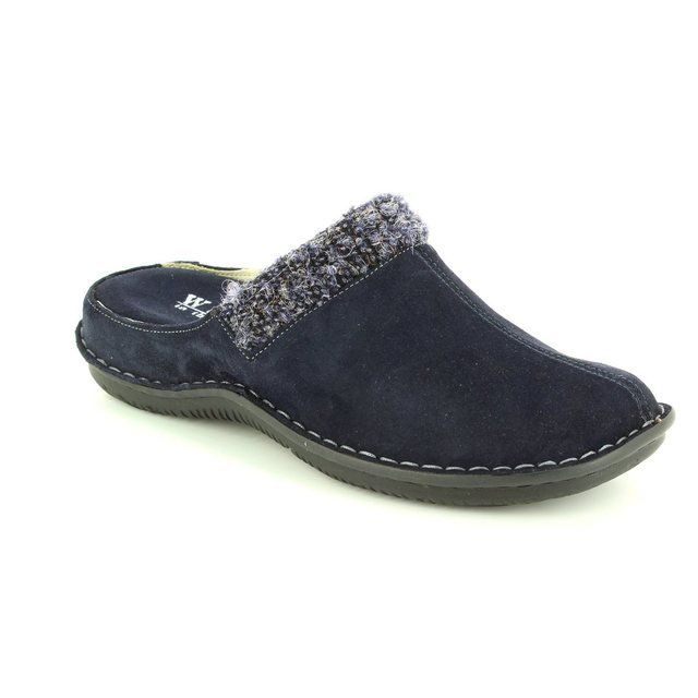 Walk in the City Slippers & Mules - Navy suede - 4988/31971 LAGOS