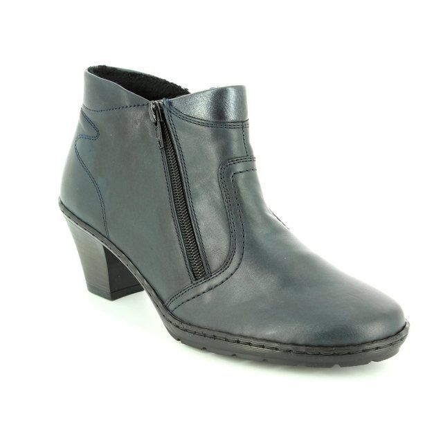 Rieker 57181-14 Navy ankle boots