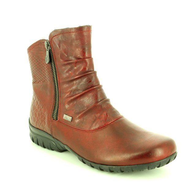 Rieker Z4663-35 Wine ankle boots