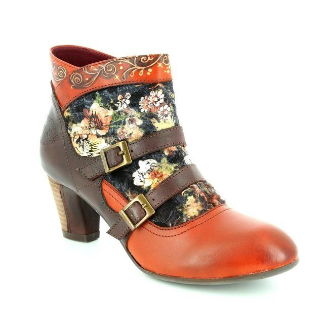 Laura Vita Amanda 30 Cafe 2006-20 Tan multi ankle boots