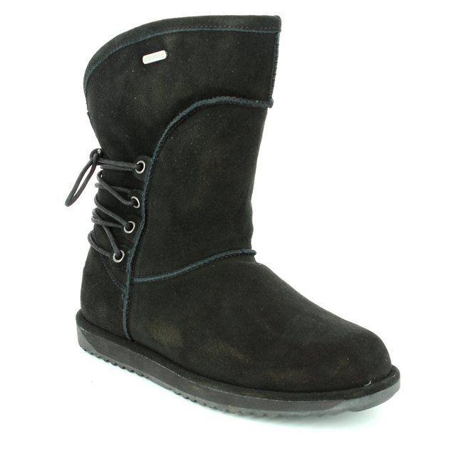 EMU Australia Islay W11245-30 Black suede ankle boots