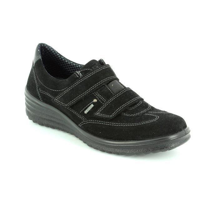 Legero Romavel Gore 00565-00 Black suede comfort shoes