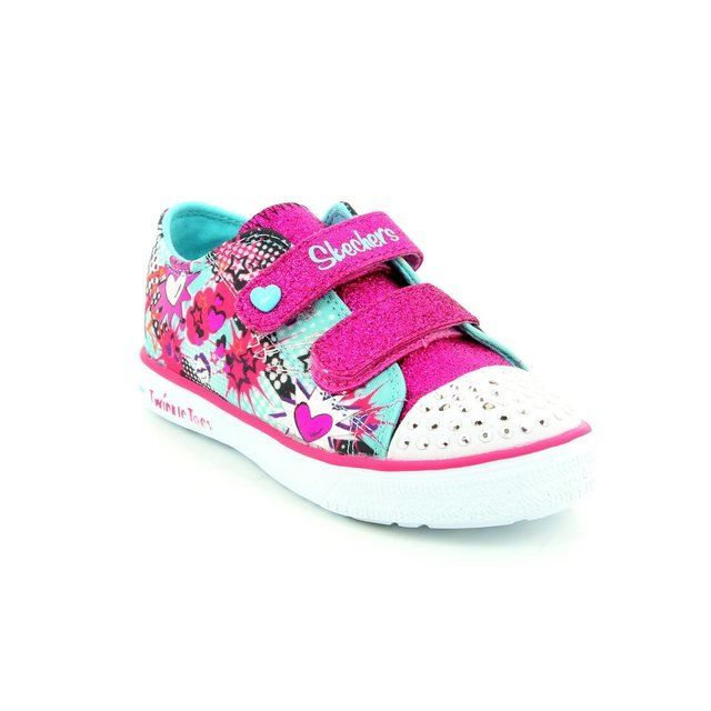 Skechers Girls 1st Shoes & Prewalkers - Turquoise-Pink - 10608/912 TWINKLE BREEZE