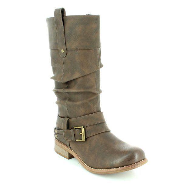 Rieker Boots - Long - Tan - 95678-25 PEEMID