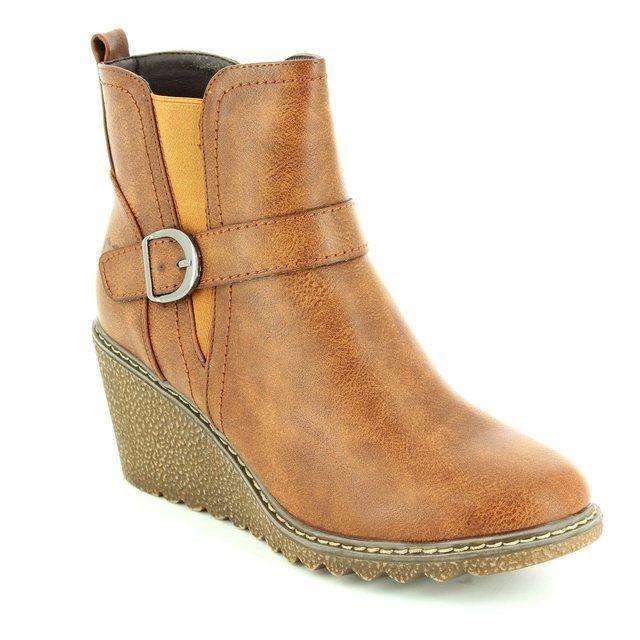 Heavenly Feet Fleur 6003-10 Tan ankle boots