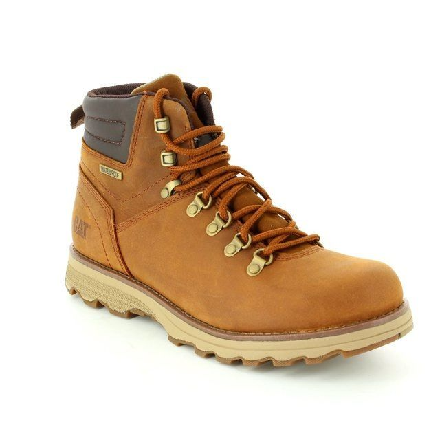 CAT Sire Wp P720692 Tan nubuck boots