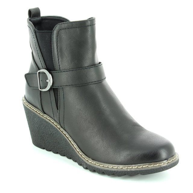 Heavenly Feet Fleur 6003-30 Black ankle boots