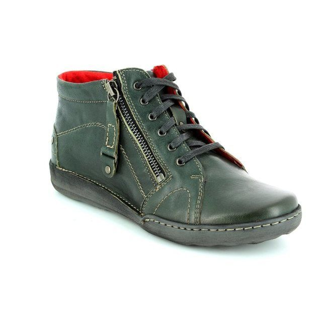 Relaxshoe 021542-90 Green ankle boots