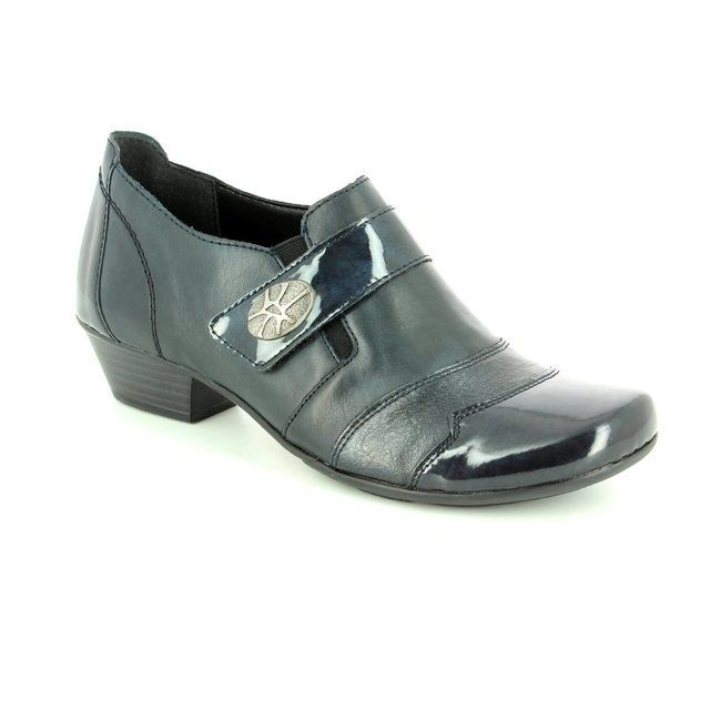 Remonte Heeled Shoes - Navy patent - D7333-14 MILLUX