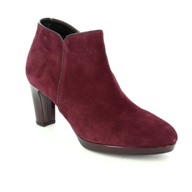 Gabor Boots - Short - Wine suede or mock snake - 56.670.48 DANEHILL