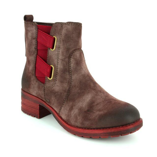 Rieker 96863-26 Brown multi ankle boots