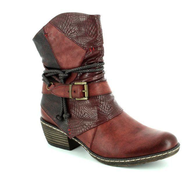 Rieker K1480-35 Wine multi boots