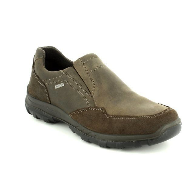 IMAC 61308-3475016 Brown waxy casual shoes