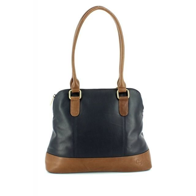 Gigi Bags Handbags - Navy/tan - 8701/70 OTHTT 8701