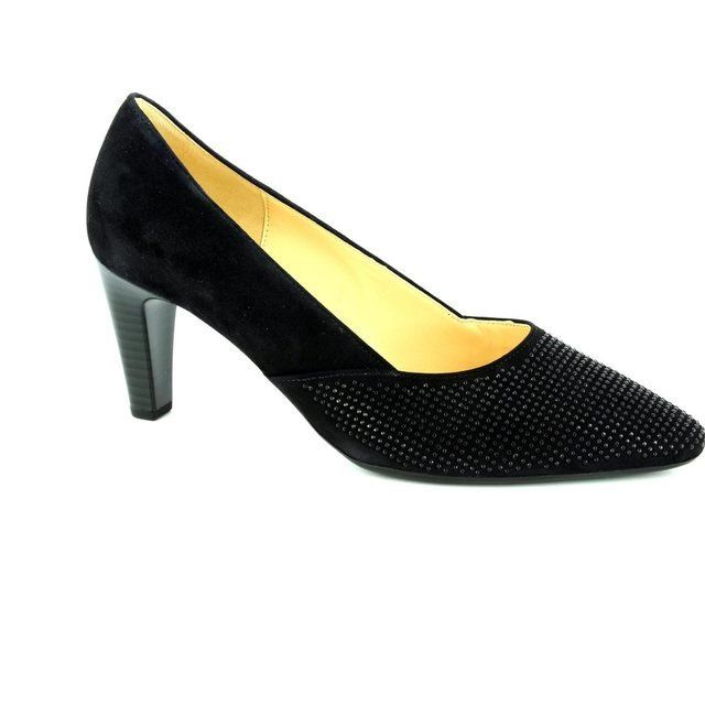 Gabor Heeled Shoes - Navy suede - 65.150.16 REFRESHING