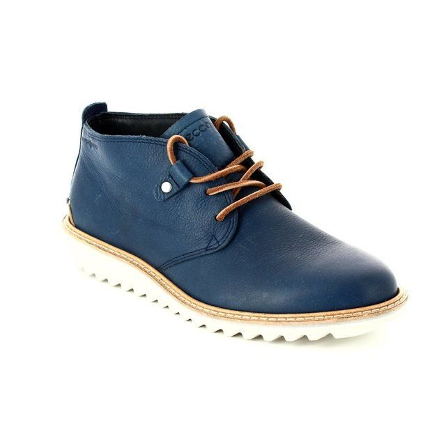 ECCO Elaine Flat Hy 280533-59969 Blue ankle boots