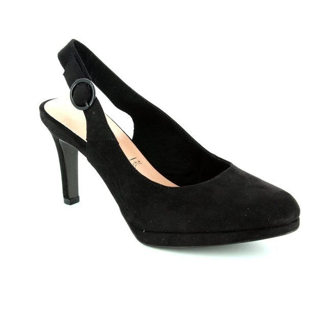 Tamaris Yam 29605-001 Black high-heeled shoes