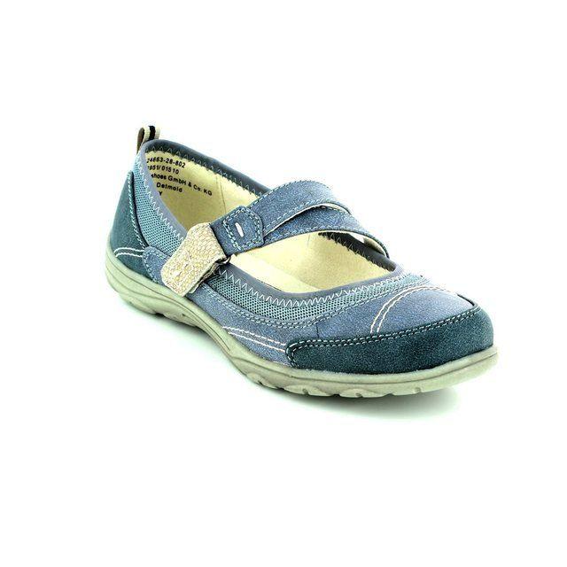 Jana Wichita 24663-802 Denim blue comfort shoes