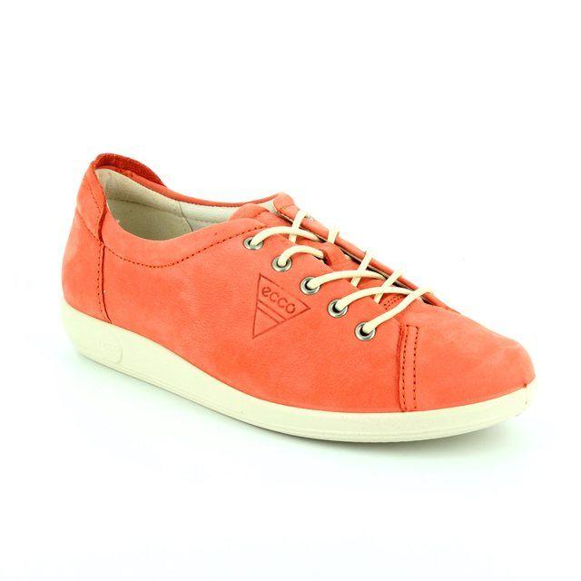 ECCO SOFT 2.0 206503-02259 Coral pink lacing